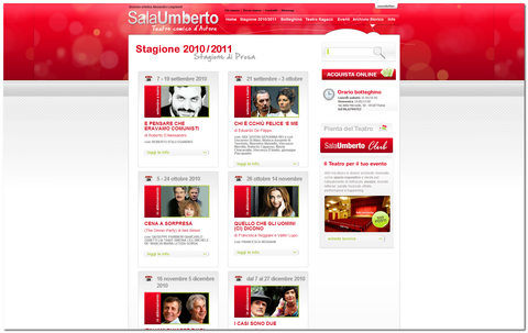 Sala Umberto calendario completo della stagione 2010/2011