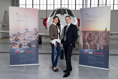 Giulia Deamina e  Renzo Pisu di Jet Privati