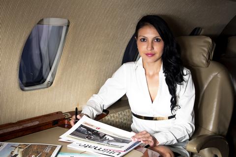 Giulia Deamina nel mondo dei business jet